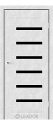 AMELIA (бетон білий, чорне скло)