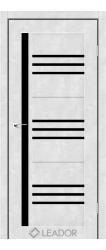 COMPANIA (бетон білий, чорне стекло)