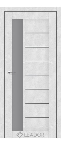 LORENZA (бетон білий, скло сірий графіт)