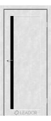 TOSKANA (бетон білий, чорне скло)
