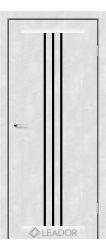 VERONA (бетон білий, чорне скло)